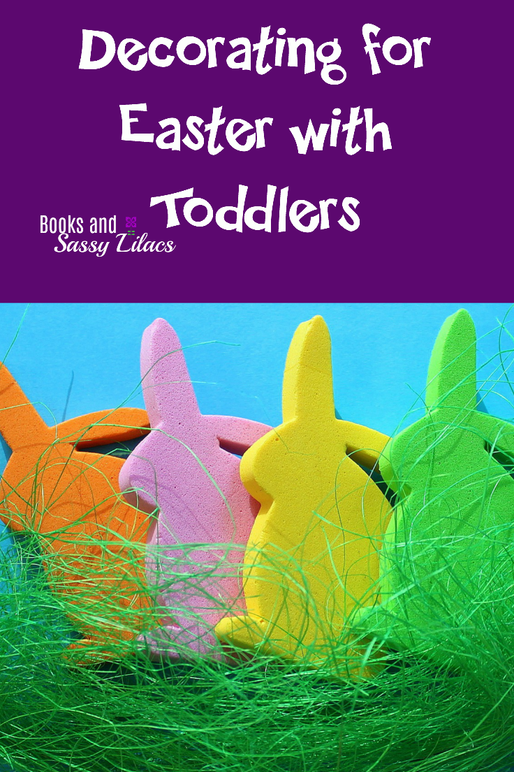 Decorating for Easter with Toddlers