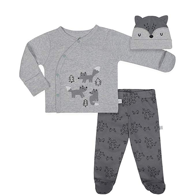 Just Born Baby Boys 3-Piece Organic Take Me Home Outfit