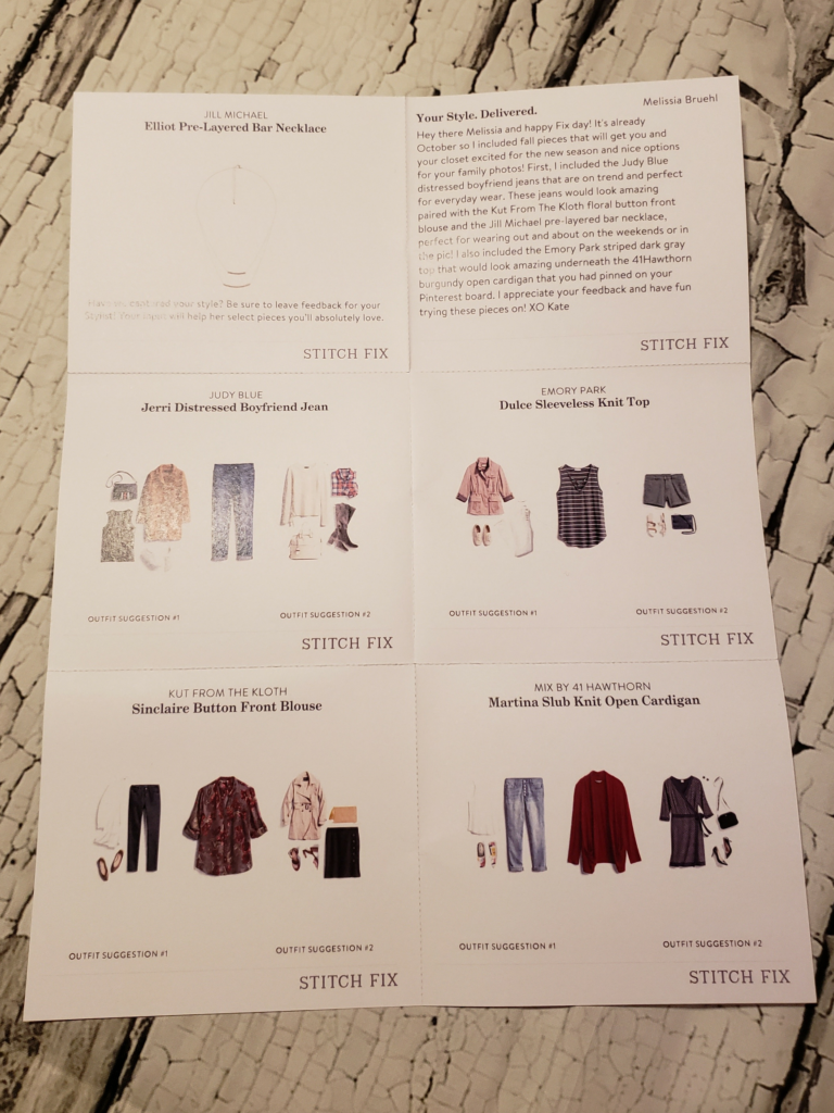 Stitch Fix October 2018