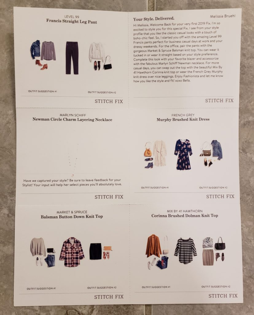 Stitch Fix January 2019
