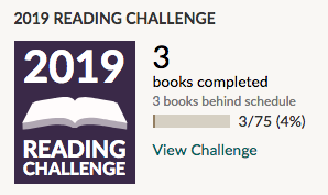Goodreads Reading Challenge January 2019